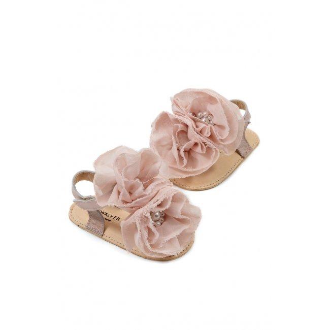 Παπούτσια Babywalker ροζ αντικέ για Κορίτσι- 1559-2
