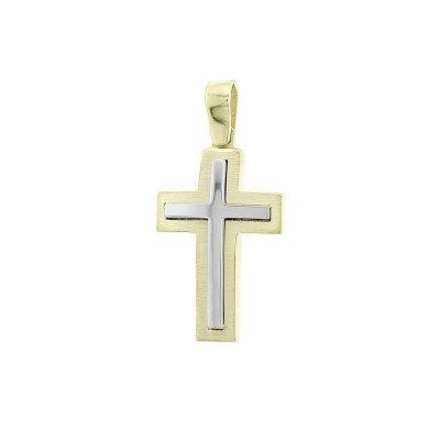 Βαπτιστικός Σταυρός Χρυσός για Αγόρι Κ5ΔΟ.328ΔΣΤ
