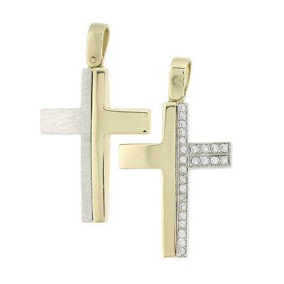 Βαπτιστικός Σταυρός Χρυσός για Αγόρι Κ5ΔΟ.455ΔΣΤ