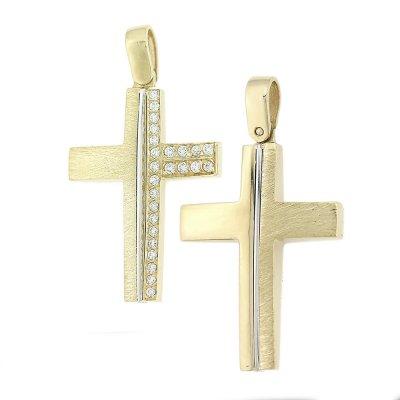 Βαπτιστικός Σταυρός Χρυσός για Αγόρι Κ5ΔΟ.455ΛΣΤ