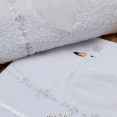 Λαδόπανο Σετ Κύκνος   Swan Lina Baby 1324 ιβουάρ