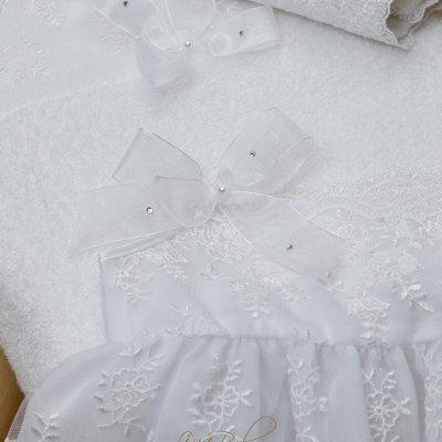 Λαδόπανο Σετ Δαντέλα Γαλλίας  French Lace Lina Baby 618 λευκό