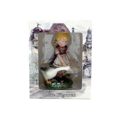 Κοριτσάκι με Χήνα κεραμικό Lore Figuren