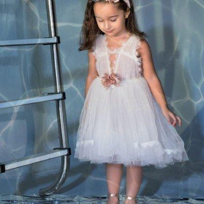 Φόρεμα Luciana  by Stova Bambini απαλό ιβουάρ - SS21G13