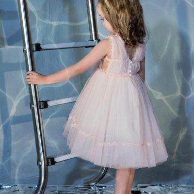 Φόρεμα Luciana  by Stova Bambini απαλό ροζ - SS21G13