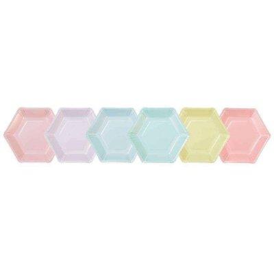 Πιατάκια εξάγωνα Pastel