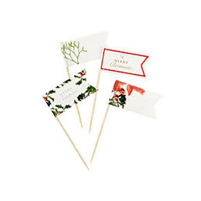 Οδοντογλυφίδες σημαιάκια Χριστουγεννιάτικο