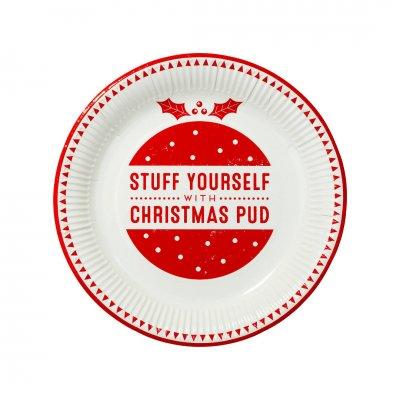 Πιατάκια 2 σχέδια Χριστουγεννιάτικο