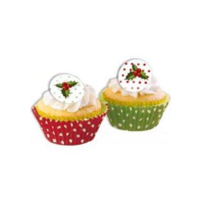 Διακοσμητικές θήκες για cupcake Χριστουγεννιάτικο