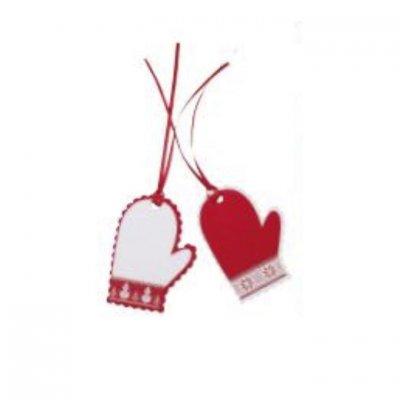 Καρτελάκια γάντια Άη Βασίλη Χριστουγεννιάτικο