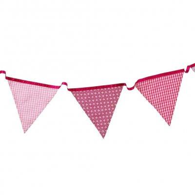 Σημαιάκια υφασμάτινα Ρόζ
