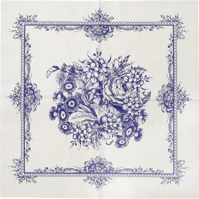 Χαρτοπετσέτες Μπλέ - Λευκό