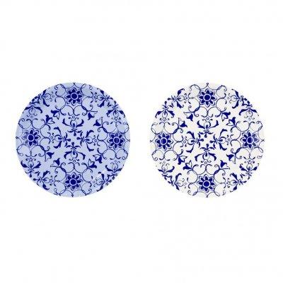 Πιατάκια Μπλέ - Λευκό