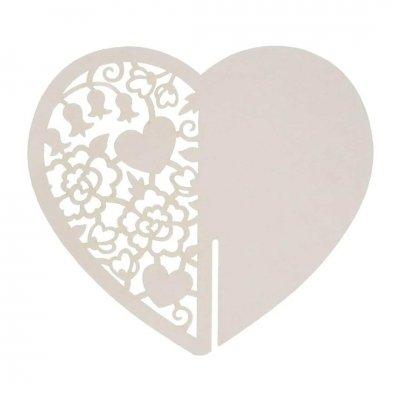 Κάρτα ονόματος καρδιά Γαμήλιο