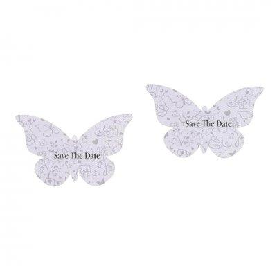 Καρτελάκια πεταλούδα Γαμήλιο