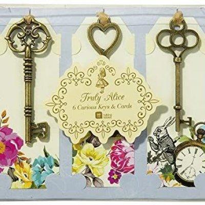 Διακοσμητικά κλειδιά με καρτελάκια Alice