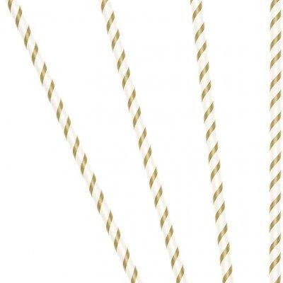 Καλαμάκια χάρτινα χρυσά