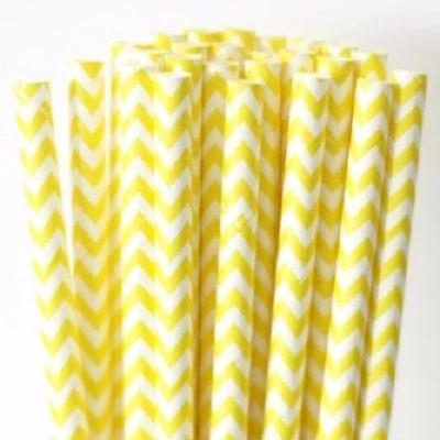 Καλαμάκια χάρτινα κίτρινα