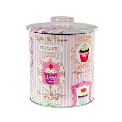 Διακοσμητικό κουτάκι μεταλλικό Cupcakes