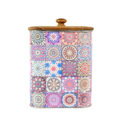 Διακοσμητικό κουτάκι μεταλλικό purple Patchwork