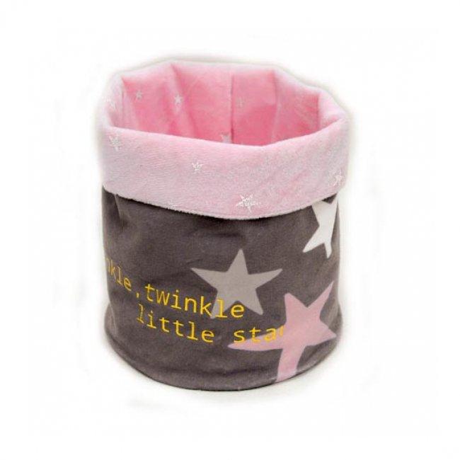 Καλαθάκι / θήκη ροζ αστέρι