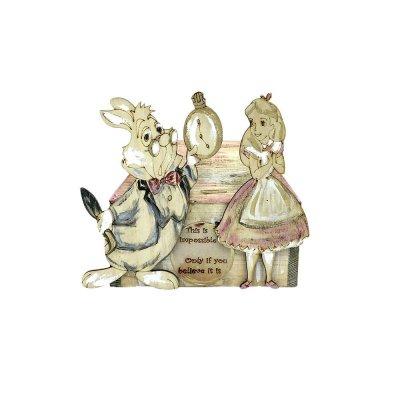 Κουμπαράς σπιτάκι Αλίκη και Λαγός