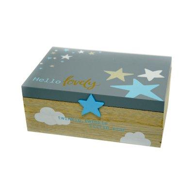 Κουτάκι προσωπικών αντικειμένων σιέλ αστέρι