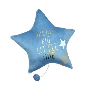 Μαξιλάρι αστέρι σιέλ με μουσική