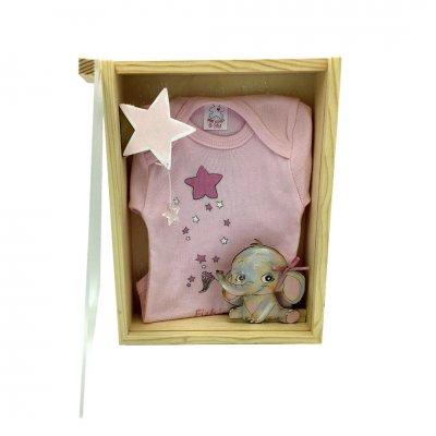 Φορμάκι εσώρουχο για κοριτσάκι με κουτάκι χειροποίητο ελεφαντάκι