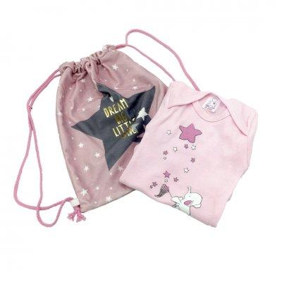Φορμάκι εσώρουχο για κοριτσάκι με τσαντάκι πλάτης αστέρι