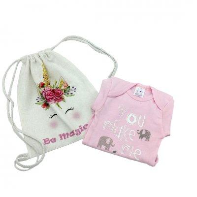 Φορμάκι εσώρουχο για κοριτσάκι με τσαντάκι πλάτης μονόκερο