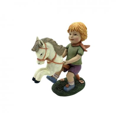 Αγοράκι με αλογάκι κεραμικό Lore Figuren