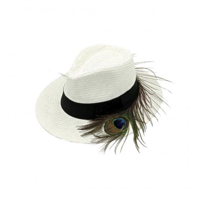 Καπέλο λευκό Peacock