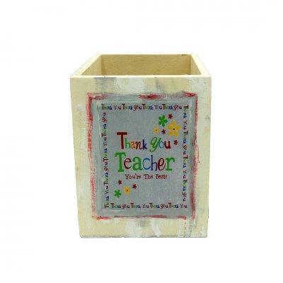Μολυβοθήκη ξύλινη για δασκάλα/ο thank you