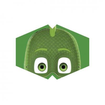 Μάσκα προσώπου παιδική πιτζαμοήρωας πράσινη