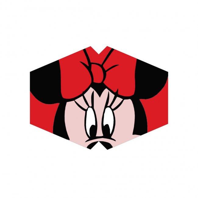 Μάσκα προσώπου παιδική ποντικίνα κόκκινη