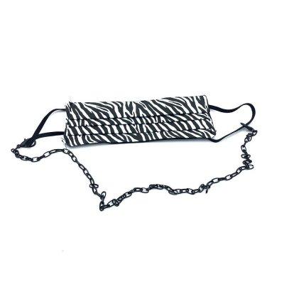Μάσκα προσώπου zebra με αλυσίδα