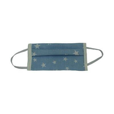 Μάσκα προσώπου παιδική γαλάζια με αστεράκια