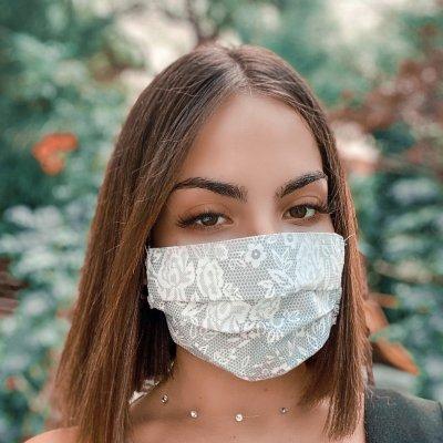 Μάσκα προσώπου dot με λουλουδάκια