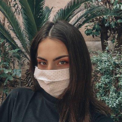 Μάσκα προσώπου εκρού πουά