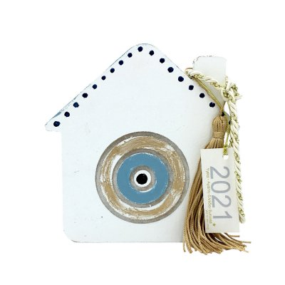 Γούρι Σπίτι με μάτι γαλάζιο μεγάλο