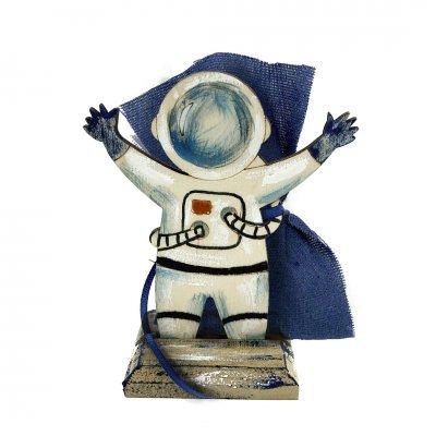 Μπομπονιέρα Αστροναύτης ξύλινο με βάση