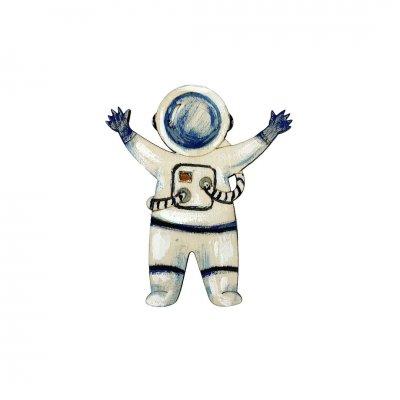 Μπομπονιέρα Αστροναύτης ξύλινο κρεμαστό