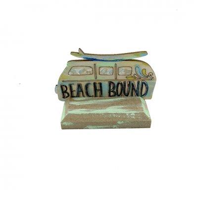 Μπομπονιέρα Βανάκι Beach Bound ξύλινο με βάση