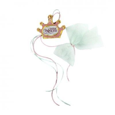 Μπομπονιέρα Little Princess ροζ ξύλινο κρεμαστό