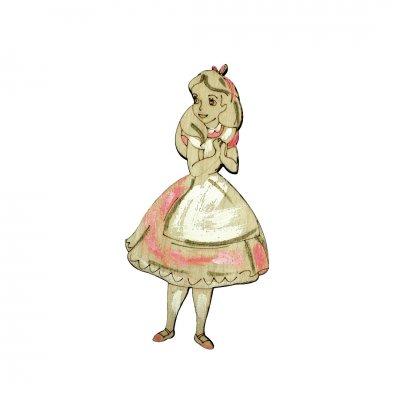 Μπομπονιέρα Αλίκη ξύλινο κρεμαστό
