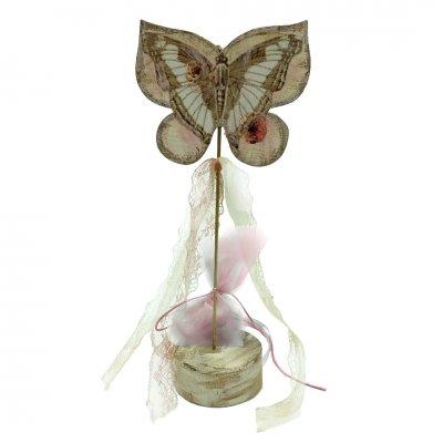 Μπομπονιέρα Πεταλούδα ξύλινο σε ντίζα
