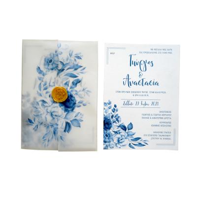 Προσκλητήριο γάμου Blue Jasmine AAF8107