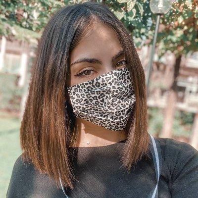 Μάσκα προσώπου cheetah με αλυσίδα