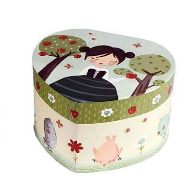 Μουσικό κουτί - Μπιζουτιέρα Snow white καρδιά